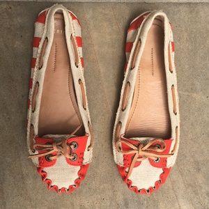 Aerin Lauder SKIPPER Striped Loafer Shoe Sz 8